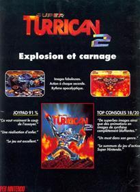Super Turrican 2 - Advertisement Flyer - Front