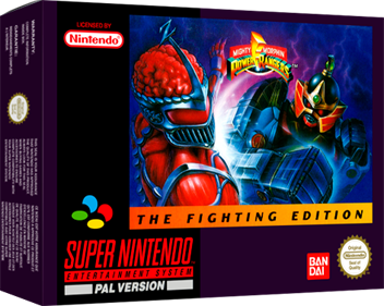 Mighty Morphin Power Rangers: The Fighting Edition - Box - 3D