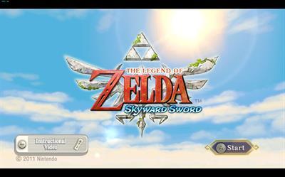 The Legend of Zelda: Skyward Sword - Screenshot - Game Title