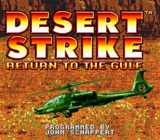 Desert Strike: Return to the Gulf - Screenshot - Game Title