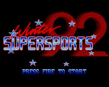 Winter Supersports 92  - Screenshot - Game Title