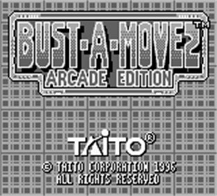 Bust-A-Move 2: Arcade Edition - Screenshot - Game Title