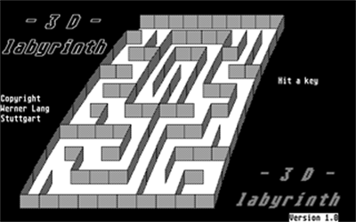 3D Labyrinth - Screenshot - Game Title