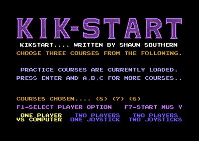 Kikstart: Off-Road Simulator - Screenshot - Game Select