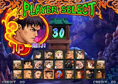 Shin Gouketsuji Ichizoku: Matsuri Senzo Kuyou - Screenshot - Game Select