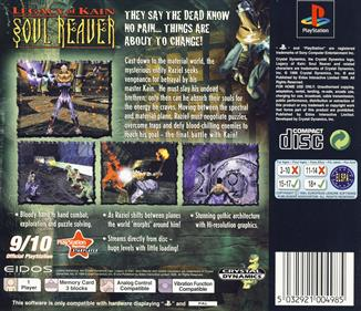 Legacy of Kain: Soul Reaver - Box - Back