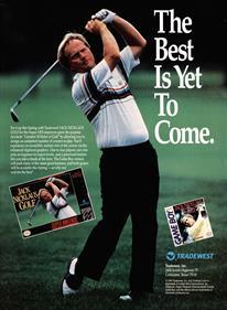 Jack Nicklaus Golf - Advertisement Flyer - Front