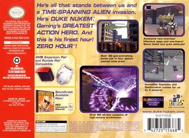 Duke Nukem: Zero Hour - Box - Back