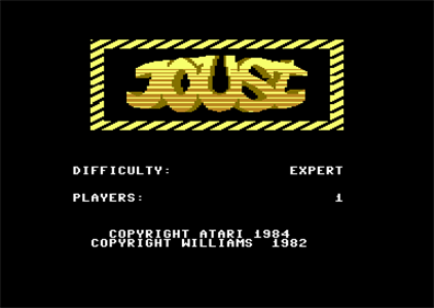 Joust - Screenshot - Game Title
