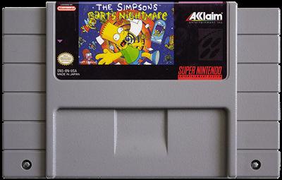 The Simpsons: Bart's Nightmare - Fanart - Cart - Front
