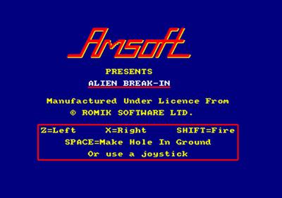 Alien Break-In - Screenshot - Game Title