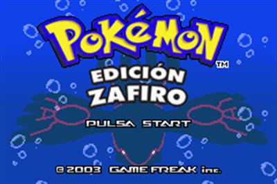 Pokémon Sapphire Version - Screenshot - Game Title