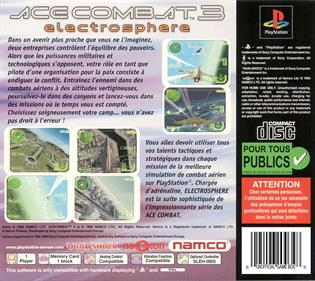 Ace Combat 3: Electrosphere - Box - Back