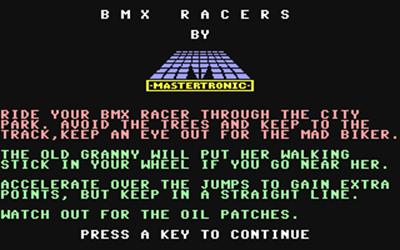 BMX Racers - Screenshot - Game Title