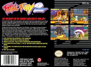 Fatal Fury 2 - Box - Back