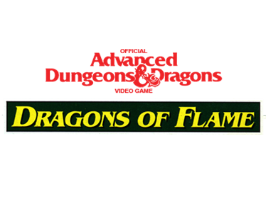 Advanced Dungeons & Dragons: Dragons of Flame - Clear Logo