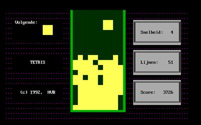 Tetris (1992) - Screenshot - Gameplay