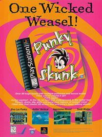 Punky Skunk - Advertisement Flyer - Front