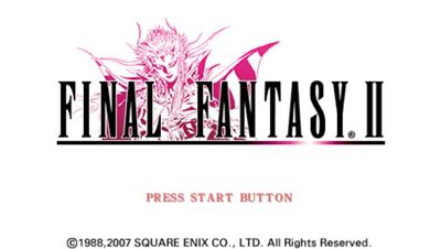 Final Fantasy II - Screenshot - Game Title