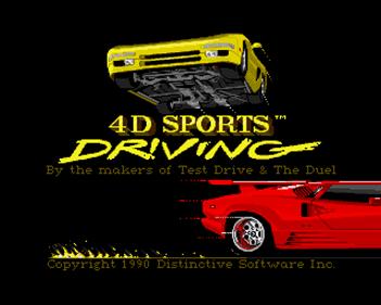4D Sports Driving - Screenshot - Game Title