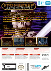 Stonekeep: Bones of the Ancestors - Box - Back