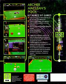 Archer Maclean's Pool - Box - Back