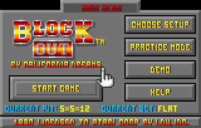 Block Out - Screenshot - Game Select