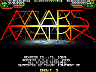 Mars Matrix: Hyper Solid Shooting - Screenshot - Game Title
