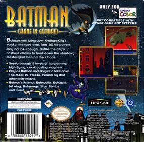 Batman: Chaos in Gotham - Box - Back