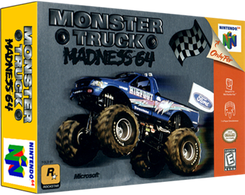 Monster Truck Madness 64 - Box - 3D