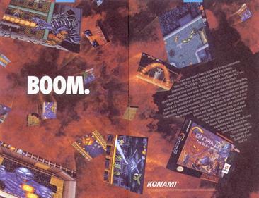 Contra III: The Alien Wars - Advertisement Flyer - Back