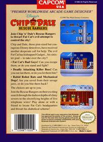 Chip 'N Dale Rescue Rangers - Box - Back