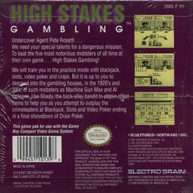 High Stakes Gambling - Box - Back