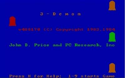 3-Demon - Screenshot - Game Title