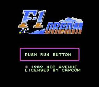 F-1 Dream - Screenshot - Game Title