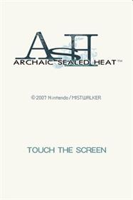 ASH: Archaic Sealed Heat - Screenshot - Game Title