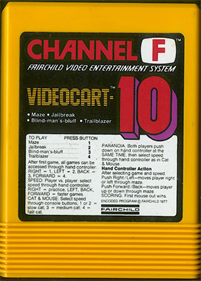 Videocart-10: Maze, Cat and Mouse - Cart - Front