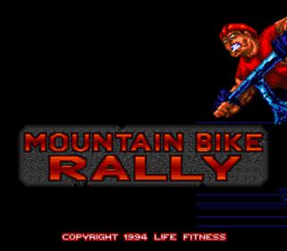 Exertainment Mountain Bike Rally - Screenshot - Game Title