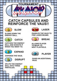 Tournament Arkanoid - Arcade - Controls Information