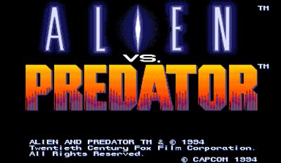 Alien vs. Predator - Screenshot - Game Title