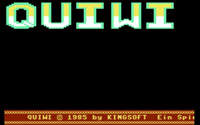 Quiwi - Screenshot - Game Title