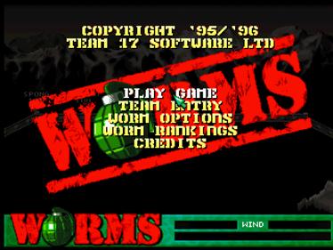 Worms - Screenshot - Game Title