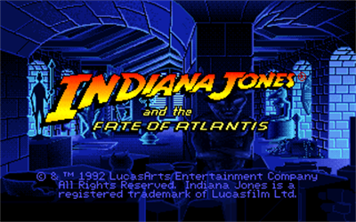 Indiana Jones and the Fate of Atlantis - Screenshot - Game Title