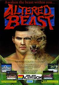 Altered Beast - Advertisement Flyer - Front
