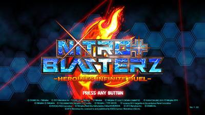 Nitroplus Blasterz: Heroines Infinite Duel - Screenshot - Game Title