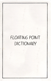 Floating Point Dictionary