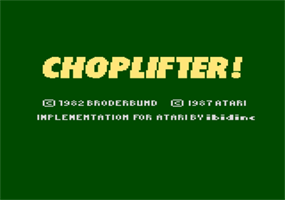 Choplifter! - Screenshot - Game Title