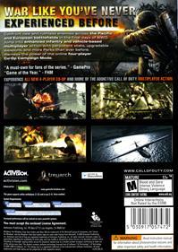 Call of Duty: World at War - Box - Back