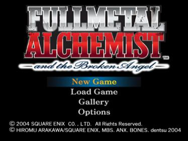 Fullmetal Alchemist and the Broken Angel - Screenshot - Game Select