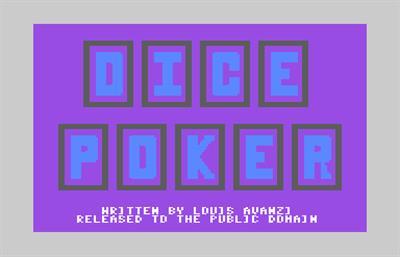 Dice Poker - Screenshot - Game Title